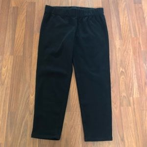 Soft Surroundings Black Metro Leggings Pants New